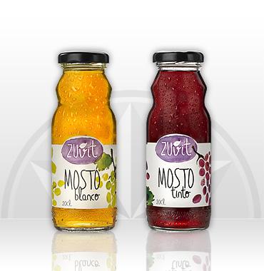 Zuvit Mosto blanco y tinto en botella de 20cl